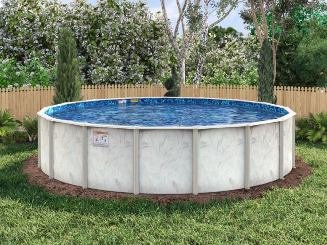 Coastal round pool