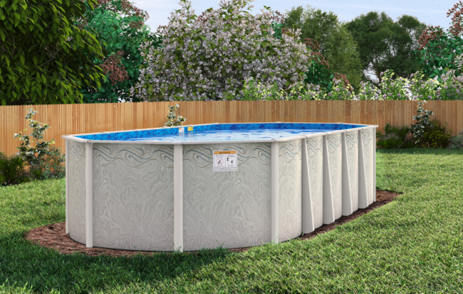 Silver interlude oval pool