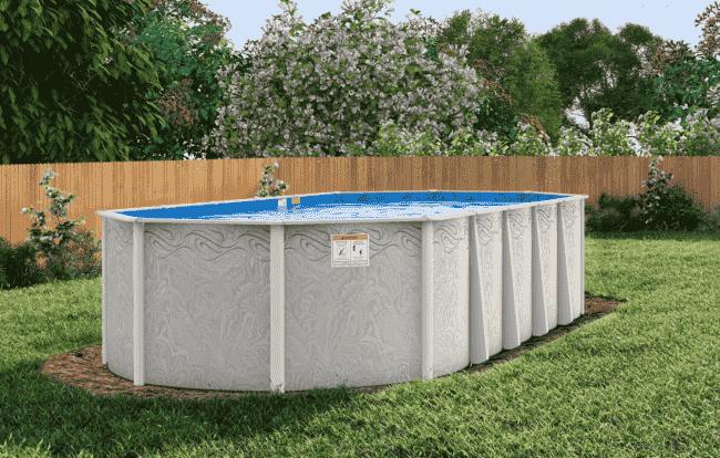 Silver-tone Oval Pool Frame in Birmingham