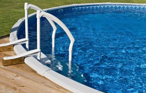 Pool with white rails in Birmingham, AL