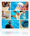 Pool cleaning tools graphic