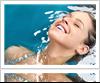 Woman enjoying pool