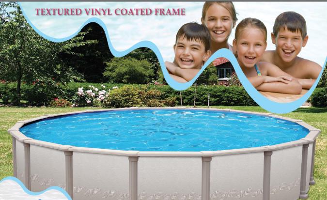 Textured vinyl coated frame pools in Birmingham